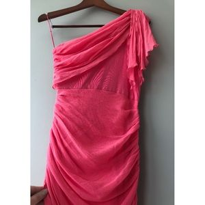 Alice + Olivia One Shoulder Pink Dress